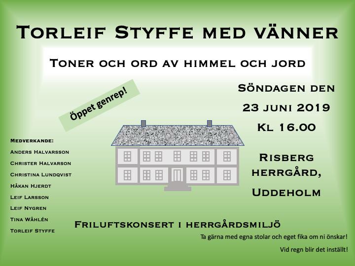 Välkomna på friluftskonsert på Risberg!